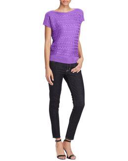 Bateau-neck Short Sleeve Sweater