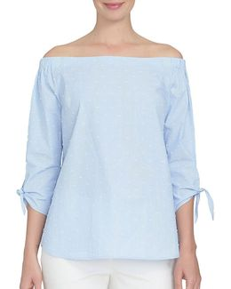 Spring Meadow Off-the-shoulder Top