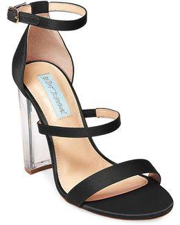 Dafne Satin Chunky Heel Sandals