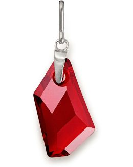 Color Code January Garnet-color Sterling Silver Charm