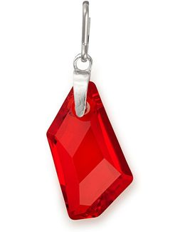 Color Code July Ruby-color Sterling Silver Charm