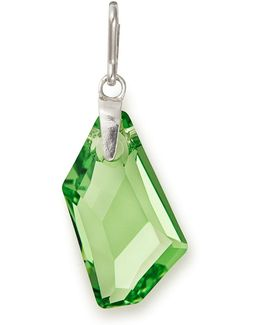 Birthstone August Peridot-color Sterling Silver Charm