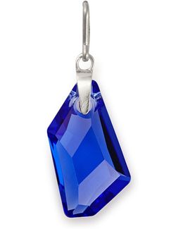 September Birthstone Sapphire-color Sterling Silver Charm