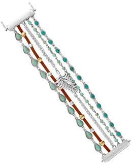 Turquoise Multi-row Magnetic Bracelet