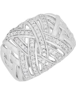 Diamond And Sterling Silver Ring