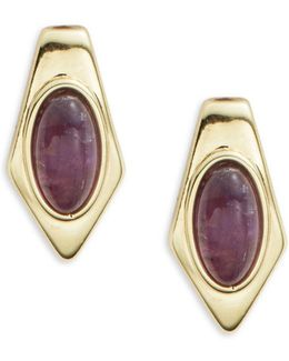 Amethyst Pierced Earrings