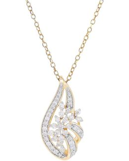 Diamonds And 14k Yellow Gold Pendant Necklace