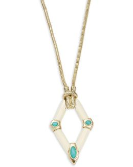 Stone Studded Pendant Necklace