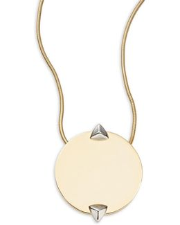 Round Pendant Gold Necklace