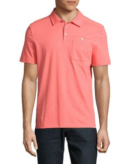 Textured Stretch-cotton Polo