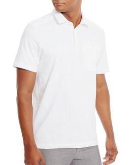 Textured Stretch-cotton Polo