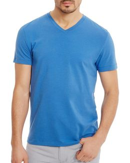 V-neck Solid Cotton Tee