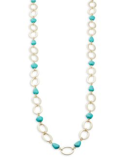 Turquoise And Caicos Rope Necklace