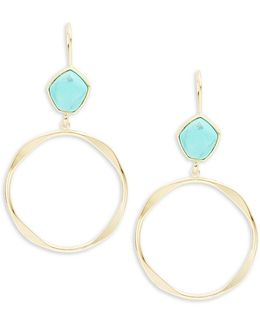 Turquoise And Caicos Hoop Drop Earrings
