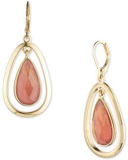 Mother-of-pearl Teardrop Leverback Earrings