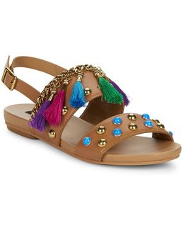 Ariel Two Band Ankle Strap Sandals