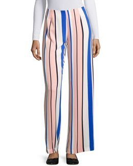 Wide-legged Striped Pants