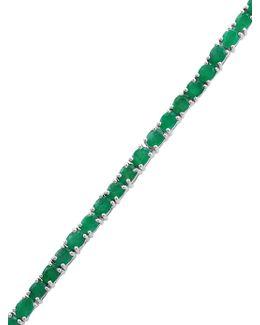 Emerald Sterling Silver Bracelet