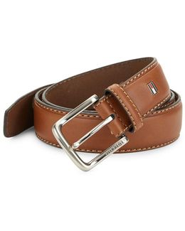 Coated Leather Belt