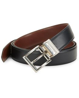 Reversible Featheredge Leather Belt