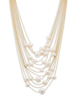Talk That Talk 6mm - 11mm Freshwater Pearl Statement Frontal Necklace