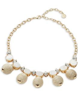 Stone-accented Statement Necklace