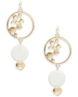 Geometric Stone-accented Drop Earrings