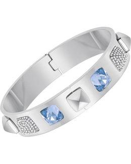 Glance Crystal Sapphire Bangle Bracelet