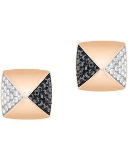 Glance Crystal Studded Pierced Earrings
