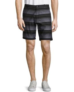 Slim Fit Striped Chino Shorts