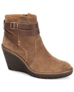Caralee Suede Wedge Ankle Boots