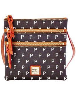Mlb Pirates Triple Zip Crossbody Bag