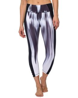 Printed Cropped Bodycon-fit Leggings