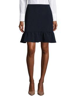 Textured Flared Skirt