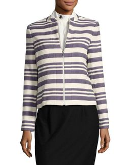 Striped Zip-front Jacket