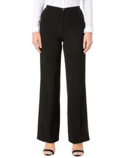 Solid Regular-fit Pants
