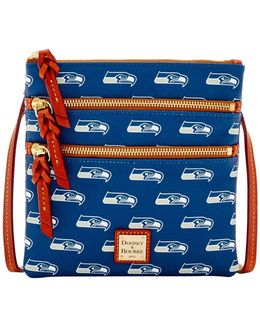 Sports Seahawks Triple-zip Crossbody Bag