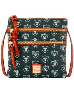 Nfl Oakland Raiders Triple Zip Crossbody Bag