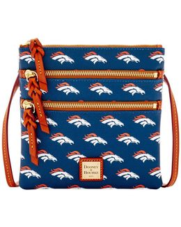 Nfl Denver Broncos Triple Zip Crossbody Bag