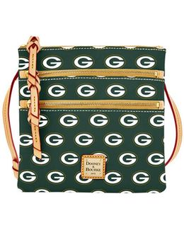 Sports Packers Triple Zip Crossbody Bag