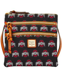 Ohio State Buckeyes Triple-zip Crossbody Bag