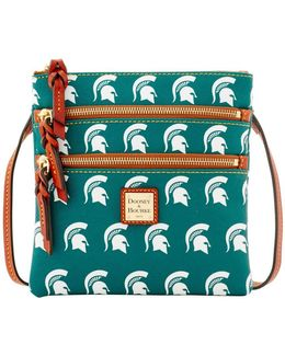 Sports Michigan State Triple Zip Crossbody Bag