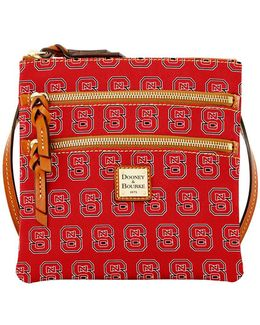 Nc State Wolfpack Triple Zip Cotton Crossbody Bag