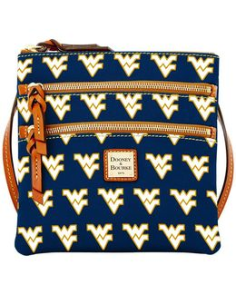 West Virginia Mountaineers Triple-zip Crossbody Bag