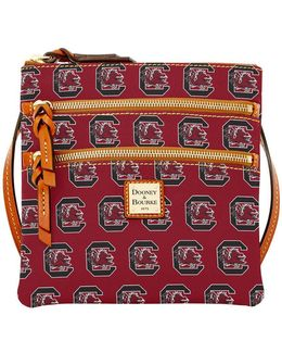 University Of South Carolina Gamecocks Triple Zip Crossbody Bag
