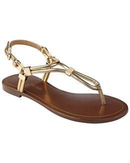Ashanti Leather Flat Sandals