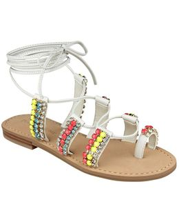 Monday Leather Flat Sandals