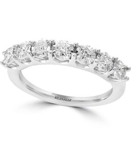 Pave' Classica Diamond & 14k White Gold Ring