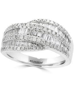 Classique Diamond And 14k White Gold Ring