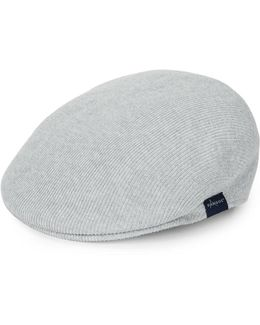Ribbed Cotton Newsboy Cap